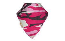 New Funky Giraffe Baby Toddler Girls Bandana Dribble Bib Pink Black Camouflage