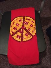 Teefury Men's LARGE L Red T-Shirt Peace of Pie **FIXED PRICE**