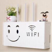 Smile Storage Box Wireless Wifi Router Organizer Shelf Wall Hanging Bracket Gift