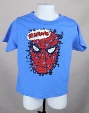 Spider-Man Shirt Boy's 3T Blue Graphic Logo Marvel Comics Shirt New ST123