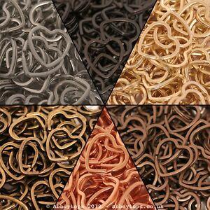 31mm Heart Split Rings Keyring Hook Loop Leather Craft