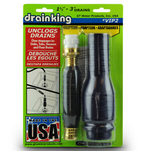 "Drain King VIP2 Drain Opener Value Pack for 1.5""  3"" Drains"