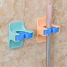 2pcs/lot Home Clip Mop Hooks No Trace Mop Holder Bathroom Rack w