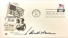 1st Day of Issue American Flag 6 Cent Stamp SIGNED By Wm. Averell Harriman 1970