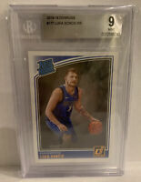 2018-19 Donruss Luka Doncic Rookie RC BGS 9 #177 Mint Luka RC! Rated Rookie