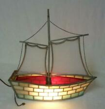 Arts & Crafts Sailboat Stained Glass Lamp