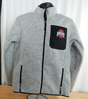 NWT Men's Official NCAA The Ohio State Buckeyes Full Zip Long Sleeve Knit Jacket