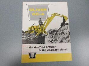 Rare Oliver OC-4 Crawler Sales Brochure 1961 16 Pages