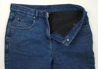Woolrich Women's Fleece Lined High Rise Dark Wash Denim Mom Jeans Size 6 Petite