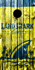 SINGLE- Cornhole Board- Bag Toss wrap - VINYL DECAL -  LANDSHARK LAGER