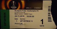 VIP TICKET Skybox UEL 2016/17 Sparta Praha vs Southampton FC