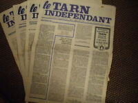 "Journal "" Le TARN INDEPENDANT "" - Ancien 1976/1977"