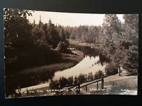 RPPC 1938 Namakagon River View Cable WI Wisconsin Vintage Real Photo Postcard B7