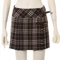 Burberry Blue Label Wool Skirt 36 Ladies Brown