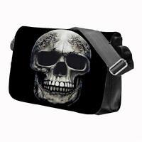 SKULL Reaper Goth Rock Guitar Band School College Personalised Messenger Bag
