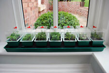 Super 7 Self Watering Propagator Seed Starter Trays with Domes Germinate Clone
