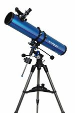 Meade Instruments Polaris 114EQ Reflector Telescope - Metallic Blue