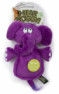 Hear Doggy Chew Guard Flats Elephant Purple Ultrasonic Silent Squeaker Dog Toy