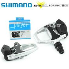 Shimano PD-R540 SPD SL Clipless Road Pedals pair set with SM-SH11 Cleats Silver
