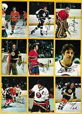 1977 Full Set Glossy Inserts: Ken Dryden, Sittler, Lafleur, etc... Topps/ OPC