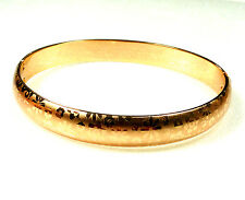 Women New Open Bangle 59mm 18K Yellow Gold Plated Classic Oriental Flora Wedding