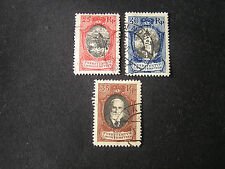 *LIECHTENSTEIN, SCOTT # 63+65/66(2), TOTAL 3  1921 COAT OF ARMS ISSUE USED