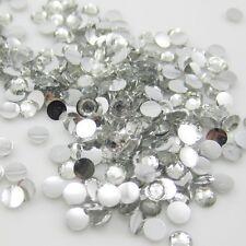 New Diy 800pcs 4mm Facets Resin Rhinestone Gems Flat Back Crystal beads White 1