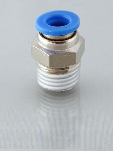 1/8 Bsp  Male - 4MM Straight Push in Fittings pk 2                           b61