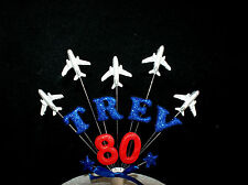 Aeroplane, plane, red arrows custom  Birthday Cake Topper, personalised