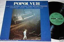 Popol Vuh Music from Werner Herzog Film Musique LP ZYX Rec GER 1982 ambiante