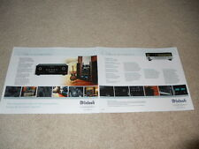 McIntosh C48 Preamp Brochure, 2 pg, Specs, Features, Info, 2005