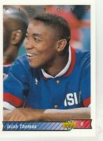 FREE SHIPPING-MINT-1992-93 Upper Deck Detroit Pistons #263 Isiah Thomas-2