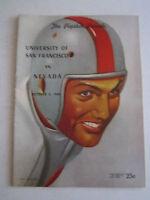 1948 UNIVERSITY OF SAN FRANCISCO VS NEVADA - FOOTBALL GAME PROGRAM - BOX C