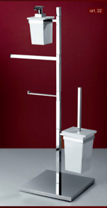 Floor Bathroom Accessories Brass Wc Bidet Modern Combined Square Made IN Italy