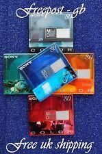 5 x SONY COLOURED DIGITAL AUDIO MINI DISCS MDW-80 MINUTES SHOCK ABSORBING SYSTEM