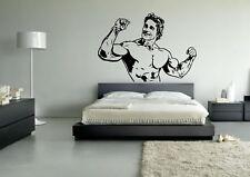 Wall Sticker Mural Decal Vinyl Decor Arnold Schwarzenegger Icon Sport Fitness