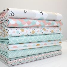 FQ Bundle - Nursery Elephants Pastel x 7 - Fat Quarter - Cotton Fabric Patchwork