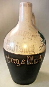 Antique (Early 1900s) Fulper Bouquet Whiskey Jug Humphrey & Martin Philadelphia