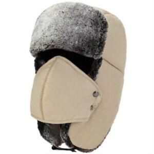 Balaclava Earflap Bomber Hats Caps Scarf Men Russian Hat Earflap Snow Ski Hats