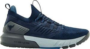 2022 Hot Blue Under Armour Men's UA Project Rock 3 Training Shoes Dwayne Johnson