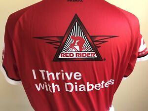 American Diabetes Association Cycling Jersey TEAM RED RIDER Wisconsin S,M,L,XL,