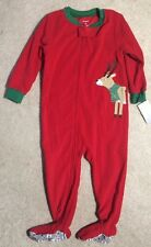 Carter's Boys Red Footed Blanket Sleeper w/ Reindeer - Size 2T - NEW