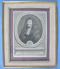 Beau Portrait Gravé de Jacob Savary par Gérard Edelinck / XVIIè