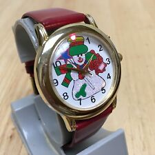 Vintage SV C-Bajae Christmas Jingle Bells Musical Quartz Watch Hour~New Battery