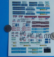 HO 1:87 Railroad Train CUT & PEEL STICKERS FOR BUILDINGS, FORD TRACTOR SIGNS