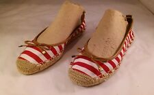 Naturalizer Sarah Womens Size 5 M Red Fabric Flats Shoes