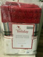 Pottery Barn Kids Merry Santa Holiday quilted shams Christmas NEW 2019
