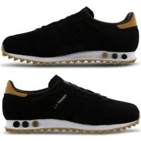 NEW Adidas LA Trainer Mens Shoes Black White Gum Brown Limited Edition All Sizes