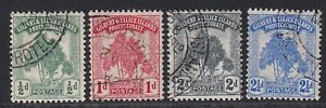 GILBERT AND ELLICE ISLANDS 1911 SET TO 2 1/2d CV FOR THE SET OF 4 IS 55 PNDS USE