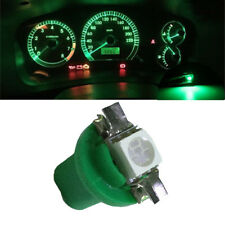 10x T5 B8.5D 5050 1SMD Car Green LED Dashboard Dash Gauge Instrument Light Bulbs